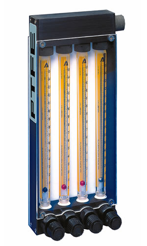 model Tx multiple flow tube PTFE meters
