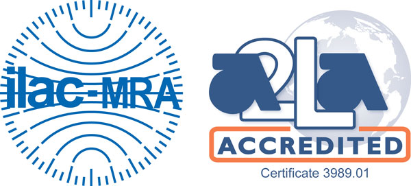 A2LA Accreditation and Certificate Number